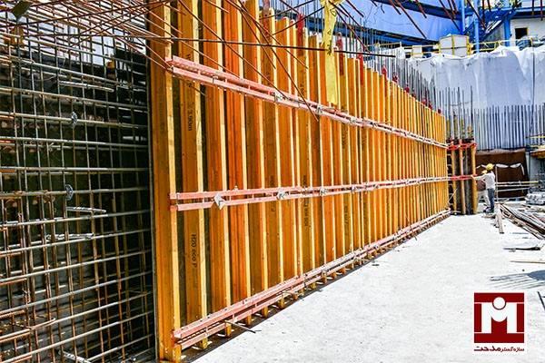 قالب بندی دیوار پلای وود با h20